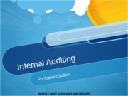 Topic 9 - Internal Auditing