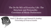 Music and Personality Studies