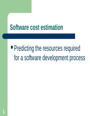Chapter 23 - Software Cost Estimation