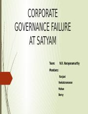 Team NRM-CORPORATE GOVERNANCE FAILURE AT SATYAM.pptx