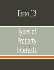 Chapter 3 - Types of Property