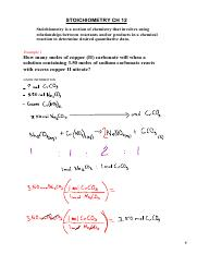 Stoichiometry Lecture Notes