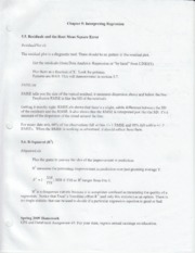 Metrics Chapter 5 notes