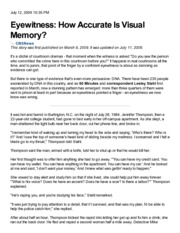 How Accurate is Visual Memory