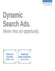 Search - Dynamic Search Ads