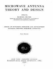 Microwave Antenna Theory And Design.pdf