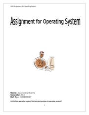 MCA2010 – OPERATING SYSTEM
