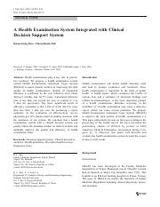 A Health Examination System Integrated with Clinical Decision Support System.pdf