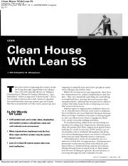 Class5 Clean house with lean 5s