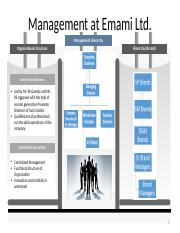 Management at Emami Ltd