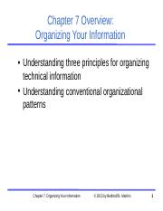 Ch07-Slides Organizational Patterns