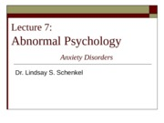 Lecture_7_Anxiety_Disorders