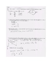 Exam A Solutions on Calculus Page 2