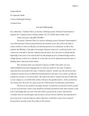Annotated Bibliography Final Research Paper CTW 2