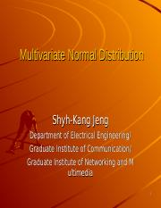 MultivariateNormalDistribution.ppt