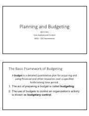 Planning and Budgeting_lecture