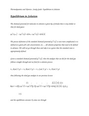 Thermodynamics and Kinetics- Study Guide- Equilibrium in Solution