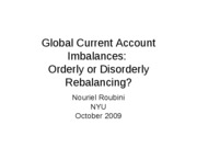 Global current account imbalances Handout2009
