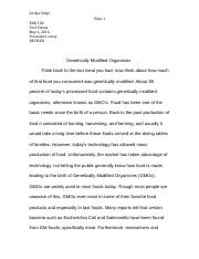 escape from the western diet essay mendoza ruiz sam mendoza  5 pages persuasive essay gmo s