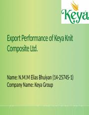 Export Performance of Keya Knit Composite Ltd.pptx