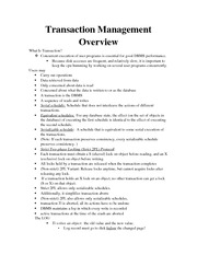 Transaction Management Lecture Note For APCO 2P32