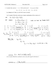 Midterm 2 Sample Solutions