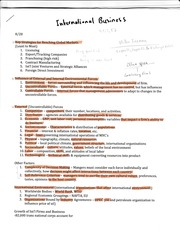 GEB2350 Chapter 1 Outline- Global Markets