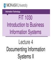 Lecture 4 - Documenting Information Systems II (1)