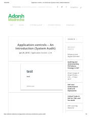 Application controls - An Introduction (System Audit) _ Adarsh Madrecha.pdf