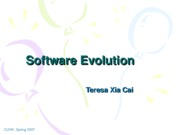Lecuture 14 Software Evolution
