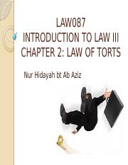LAW OF TORTS-SLIDES 1-NEGLIGENCE