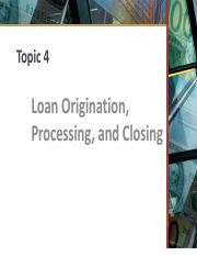 4 - Mortgage Process