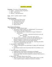 History of Psyc Notes