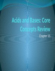 Lecture 8 Acids and Bases