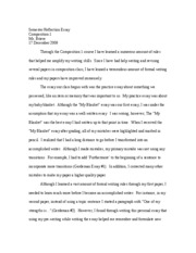 SEMESTER reflection essay[1]