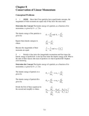 Ch.8 Conservation of Linear Momentum