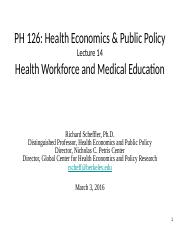 14. Health Workforce and Medical Education 03.03.16.pptx