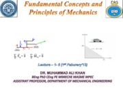 Introduction to Engineering Mechanics (Lectures 1-6)