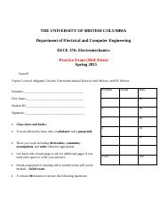 Sample Midterm 2015 - Exam