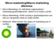 micro macro dilemma The micro-macro problem in social marketing discusses is the micro-macro problem: one that goes at the heart of the social marketing dilemma.