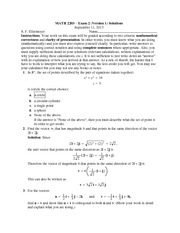 Exam 2 Version 1 Solutions