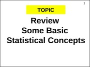 basicstatics review