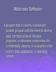 L21 - Malicious Software.ppt