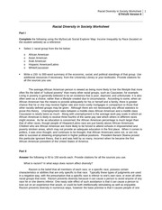racial diversity in society worksheet 3 essay Racial diversity: historical worksheet in today's society • what are some of the larger racial minorities in us history.