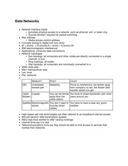 TC201 Data Networks Notes