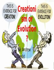 Creationism or Evolution