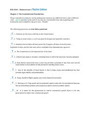 Chapter 1, Constitutional Foundations (1)