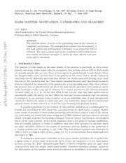 2 Dark Matter Motivation, Candidates and Searches by Georg G. Raffelt