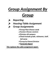 Cabin assignment report by cabin.docx