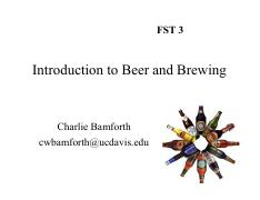 1. Basics of Beer and Brewing